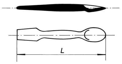 Kopisť se lžicí, délka 187 mm