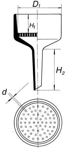 Funnel by Bűchner, diameter 77 mm