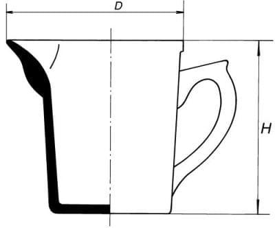 Glass measuring with internal graduation, 250 ml