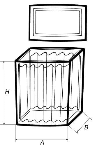 Skříňka barvířská s víčkem