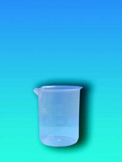 Beaker 50 ml, PP, translucent molded scale