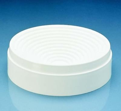 Vanity round bottom flask, PP, white, diameter 160 mm