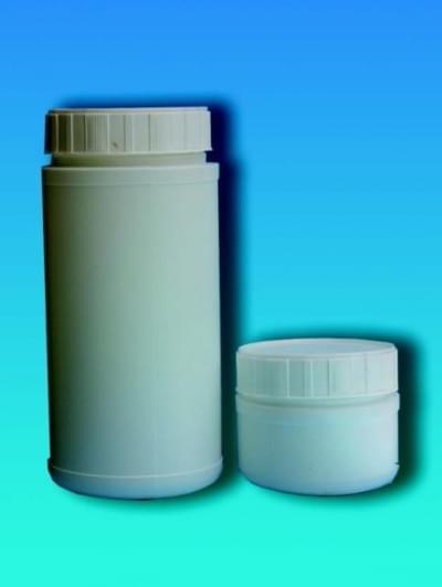 Láhev na chemikálie, širokohrdlá, bílá, 250 ml - 250 ml