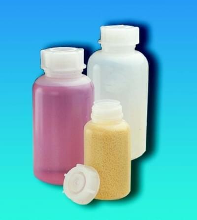 Láhev širokohrdlá LDPE, kulatá, průhledná, bez uzávěru, 100 ml - 100 ml