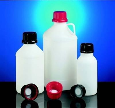 Láhev reagenční s UN kódem, HDPE, úzkohrdlá, průsvitná, bez víčka, 2 500 ml - 2500 ml