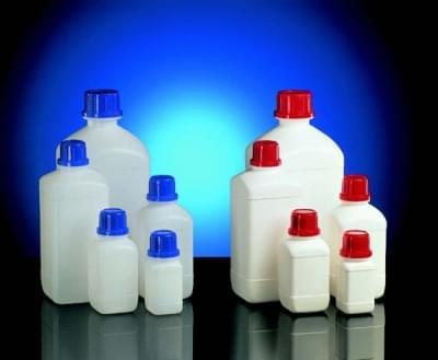 Láhev reagenční, úzkohrdlá HDPE, čtyřhranná, bílá, bez uzávěru, 250 ml - 250 ml