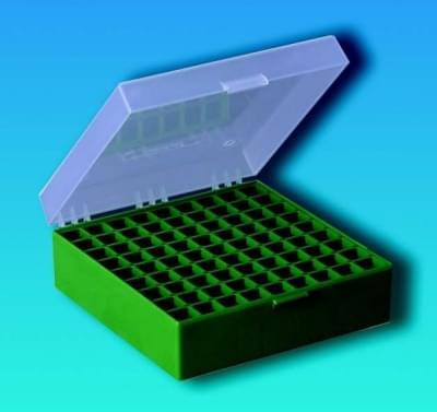 Kryobox s mřížkou, PP, pro 1,2 - 2 ml zkumavky, zelená