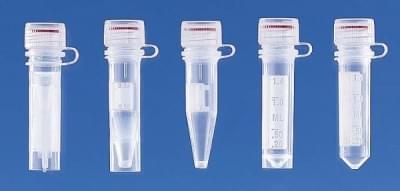 Mikrozkumavka se šroub.uzávěrem, silikon.těsněním, PP, nesterilní, 0,5 ml - 0,5 ml, samostaně stojíc