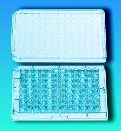 Destičky mikrotitrační, 96 jamek, sterilní, PS, víko - víko