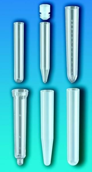 Zkumavky, PP, bez uzávěru, kulaté dno, 12 ml, průměr 16 mm