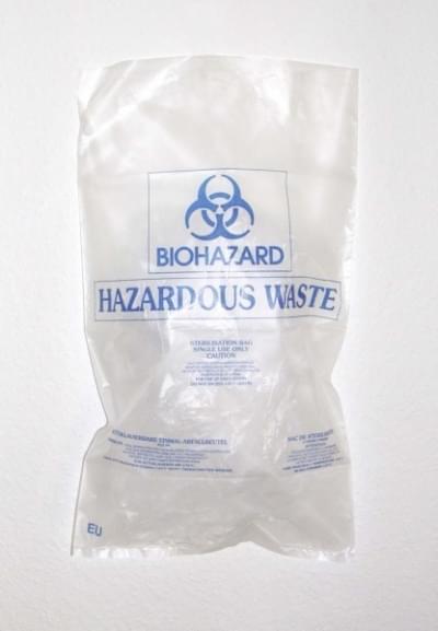 Pytel na biologický odpad BIOHAZARD, 500 × 300 mm - 500 x 300