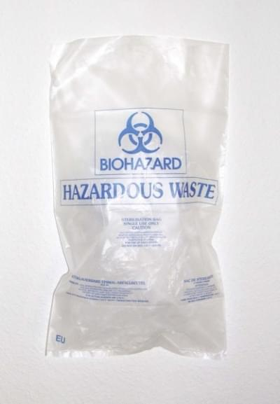 Pytel na biologický odpad BIOHAZARD, 800 × 600 mm - 800 x 600