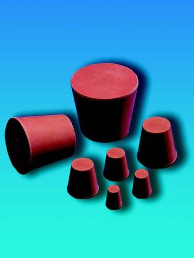 Zátka gumová, kónická, horní průměr 27 mm, dolní průměr 21 mm, výška 30 mm - 21/27