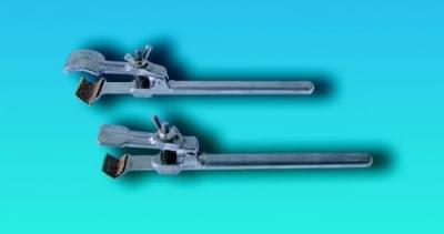 Držák bez svorky, k uchycení dvojitou svorkou na tyč stojanu, typ II, délka 196 mm - 196 mm