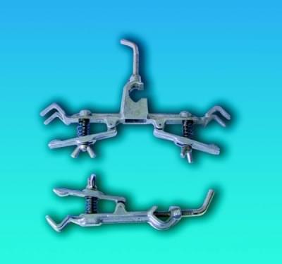 Držák na byrety se svorkou, jednoduchý, délka 130 mm - jednoduchý