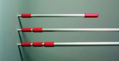 Teleskopická tyč z hliníku pro prům. naběračky, nast. délka od 1,65 m do 4,50 m - 1,50 m do 4,50 m