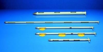 Zónový vzorkovač na sypké materiály - vzorkovač Uno, ušlechtilá ocel, průměr 25 mm