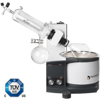 Rotary Evaporator Hei-VAP Value - hand lift model with G1 diagonal glassware