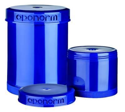 Modré dávkovací kelímky pro Topitec s výtlačným pístem