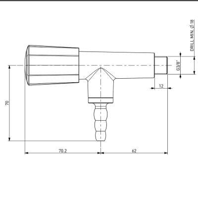 TOF 2000/20 - Gas Tap – nozzle 90°