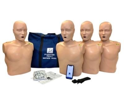 Prestan Professional 2000 - KPR figurína dospělého člověka s KPR monitorem a Bluetooth připojením - balení 4 ks