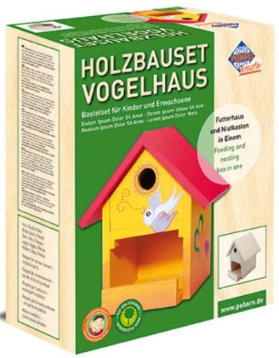 Woodconstruction bird house