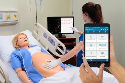 NOELLE® Childbirth Simulator with PEDI® Blue Neonate and OMNI® 2