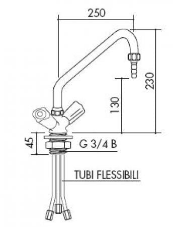 TOF 1000/281 - Single hole mixer - low pressure