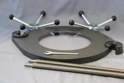 Upínací zařízení standard pro analytická síta Ø 400 a 450 mm